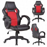 Ergonomic High-back PU leather office chair Executive Computer Desk Chair Black