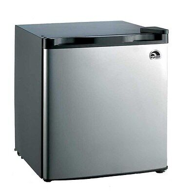 Igloo 1.7 Cu Ft Mini Fridge, Compact Refrigerator, Stainless Steel- Refurbished