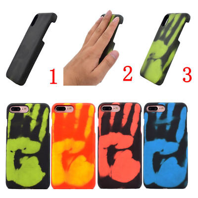 Heat Sensitive Phone Case Cover Temperature Color Changing For iPhone XS MAX 6 7 Color Cell Phone Cover Case