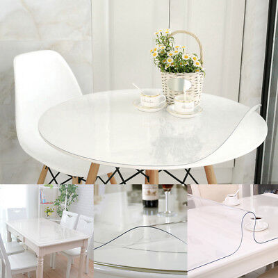 1.5mm Waterproof PVC Clear Plastic Tablecloth  Transparent Protector Dining Bar (Clear Plastic Tablecloth)