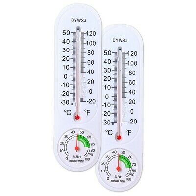 Wall Hung China (Wall Hung Thermometer Hygrometer Temperature for Indoor Outdoor Garden Office )