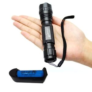 Flashlight UltraFire T6 WF-501B 1000lm CREE XM-L Torch 5 Mode +Charger+Battery