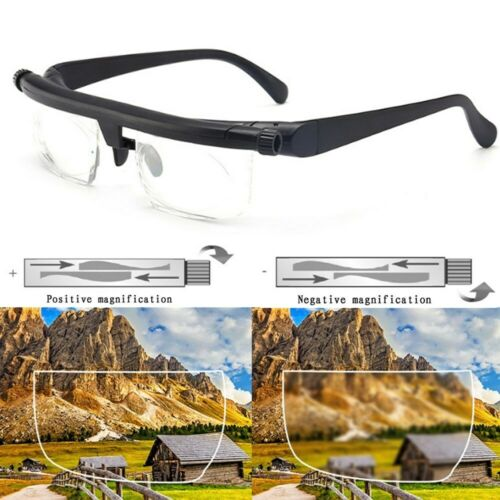 Dial Adjustable Glasses Variable Focus For Reading Distance Vision Eyeglasses US Health & Beauty
