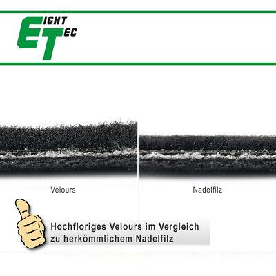 Velours Fußmatten Beige Randfarbe wählbar für Porsche 911 997 ohne Bose Sound B