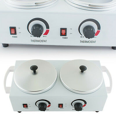 Bid! Double Pot Wax Warmer Heater Electric Professional Dual Salon Hot Paraffin