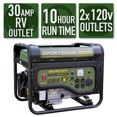 Sportsman 4000-watt Portable Rv Ready Gas Powered Generator Home Back Up Camping