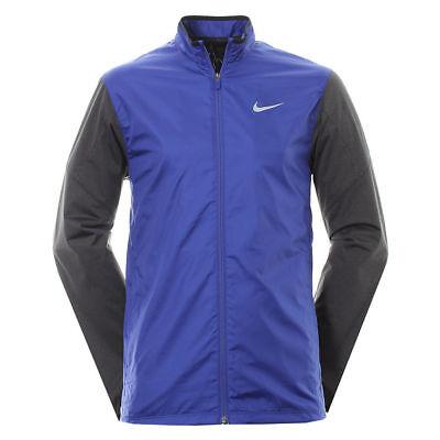 Nike Golf Men's Royal Blue & Gray Water Repel Windproof Full Zip Shield Jacket