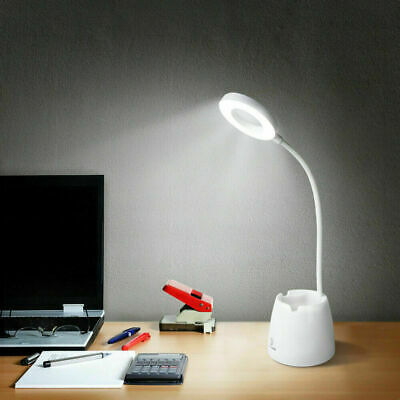 LED Desk Light Table Reading Lamp Dimmable Rechargeable Touch Control Pen Holder