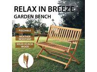 Garden Bench 120 cm Solid Acacia Wood-44132