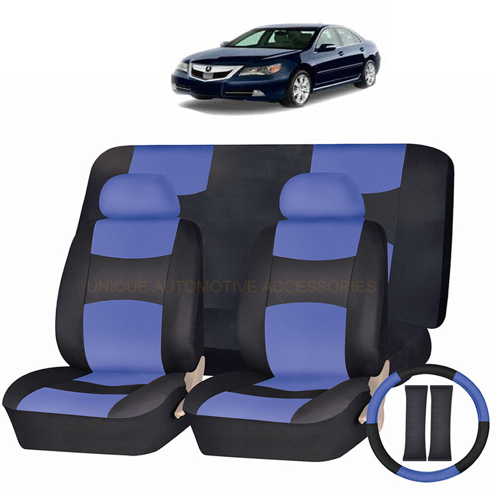 BLUE Front /& Back SPLIT Bench SEAT COVERS 9pc SET for MERCEDES C S CLASS