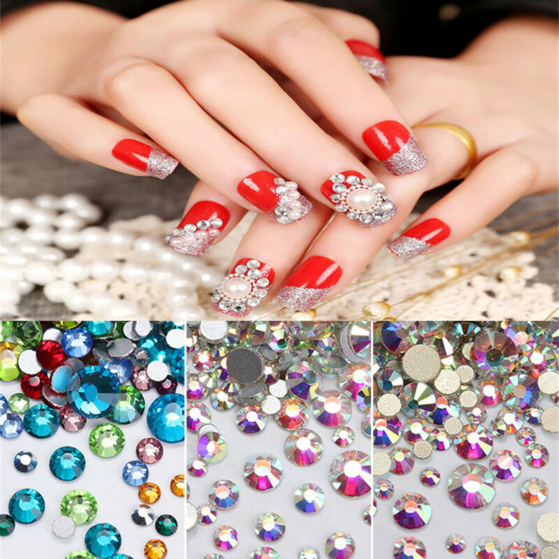 20 Colors Nails Art Crystal Glass Rhinestones For Nails Nail Art 3d