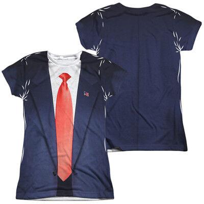 MODERN DAY PRESIDENTIAL COSTUME Women's Junior Tee Shirt SM-2XL Halloween
