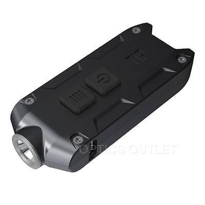 Nitecore TIP Black 360 Lumen USB Rechargeable Keychain Flashlight - Tube Upgrade