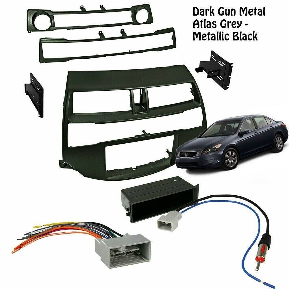 details about metallic black radio car stereo install dash kit harness antenna honda accord line output converter diagram car stereo cd player wiring harness