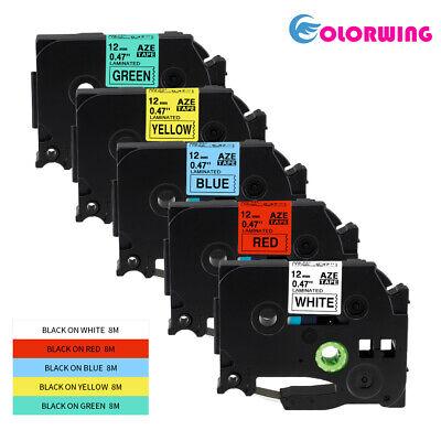 5 PK color TZe-231 431 531 631 731 Compatible Brother Label Tape TZ PT-D210 12mm segunda mano  Embacar hacia Mexico
