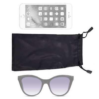 2x Brillenbeutel Brillenetui Brillenhülle Brillentasche Brille Beutel Schwarz