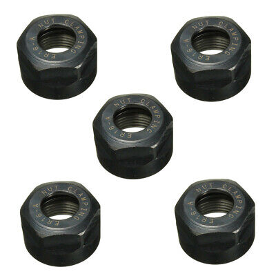 5pcs Er16 A Type Collet Clamping Nut For Cnc Milling Chuck Holder Lathe Tool C