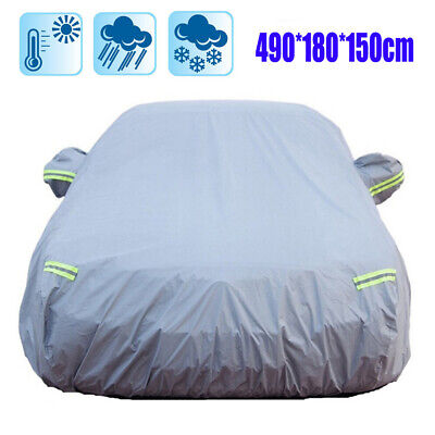 UK Full Car Cover Rain Sun UV Protection Scratch Proof Waterproof Large Size XL