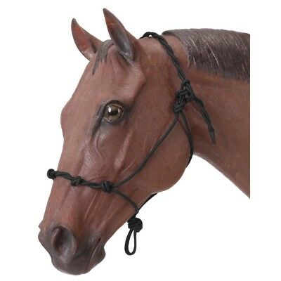 Tough-1 Knotted Rope and Twisted Crown Training Halter Thin Stiff (Knotted Training Halter)
