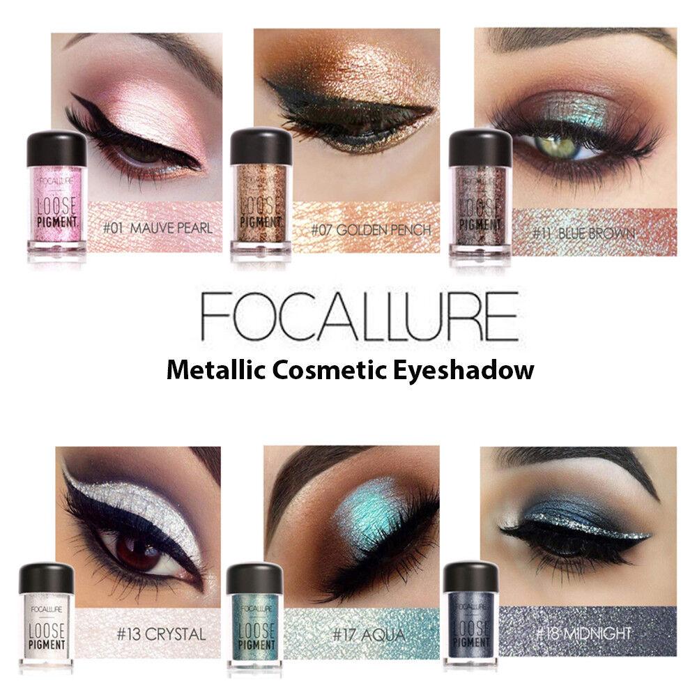 Eyeshadow Colors Pearl Metallic Eye Shadow Palette Makeup Powder Lasting Natural