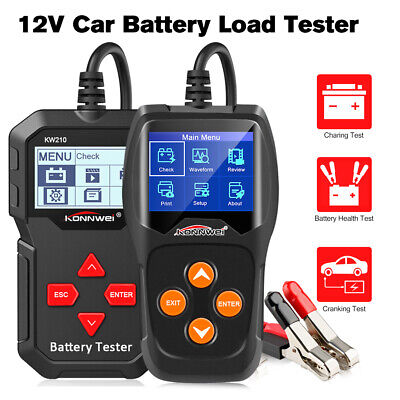12V Car Battery Load Tester 100 to 2000CCA Auto Battery Tool KONNWEI KW210 KW600 Car Battery Load Tester