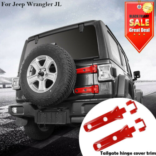 ABS Chrome Rear Door Panel Trim Covers NINTE Tailgate Hinge Cover for Jeep Wrangler JL 2018 2019