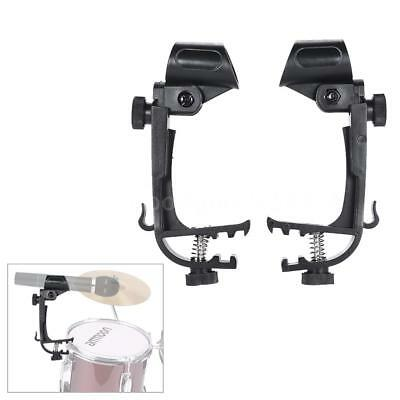 - 2pcs Plastic Clamp Clip On Drum Rim Microphone Mic Mount Holder Black E5H0