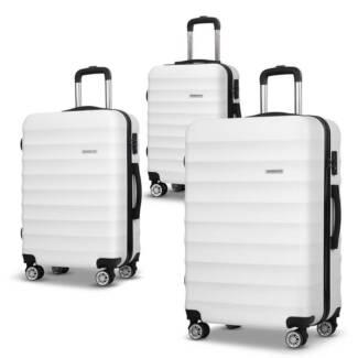 Set of 3 Hard Shell Lightweight Travel Luggage with TSA Lock Whit