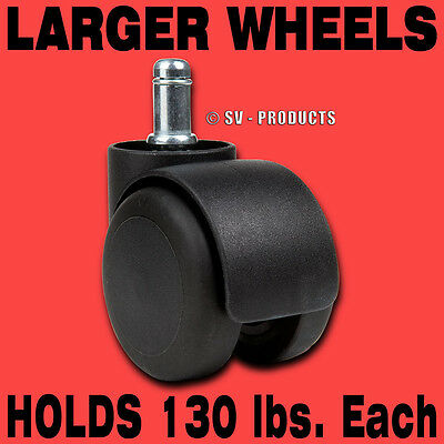 Office Chair Parts Casters Soft Roll Wheel Tire - 129