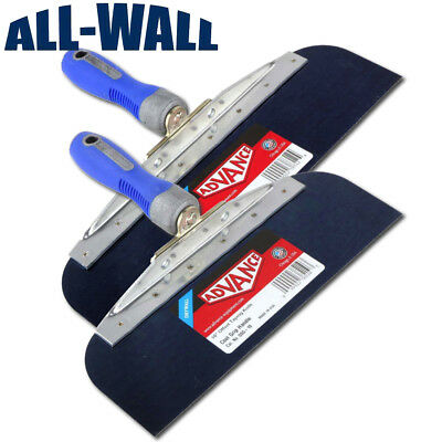 Advance Drywall Offset Taping Knife 10 12 Blue Steel Finishing Knives Set