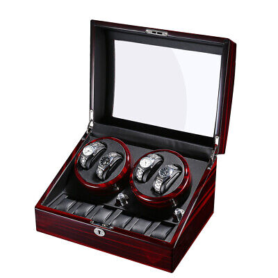 4+6 Automatic Wood Watch Winder Display Box whit Soft PU Watch Pillows US STOCK