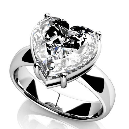 4.00 Carat Heart Shape Diamond Solitaire Engagement Ring Platinum GIA Certified
