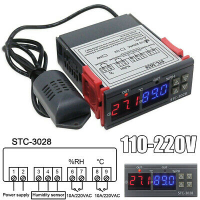 110-220v Stc-3028 Digital Temperature Humidity Controller Thermostat Cs
