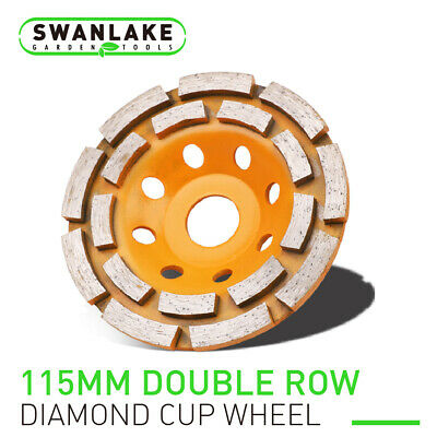 4.5 Diamond Grinding Cup Wheel Double Row Concrete Angle Grinder 18 Segments