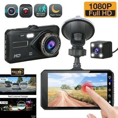 "4"" Dual Lens Car DVR Camera Vehicle Video Recorder Dash Cam Night 1080P HD【US】"