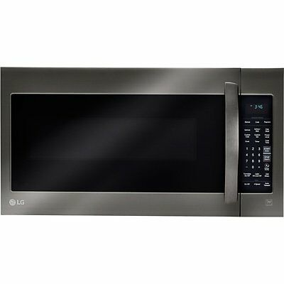 LG 2.0 Cubic Feet 1000W Black Stainless Over-the-Range Micro