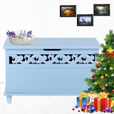 Entryway Wooden Trunk Chest Bench Storage Organizer Large Toy Box Decor Q4X4 ()