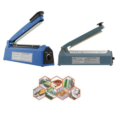 8 12 16 Hand Impulse Heat Sealer Plastic Bag Film Sealing Machine Metal Abs