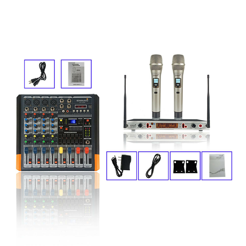 STARAUDIO 15 Inch 3500W DJ PA Powered Active Speaker System