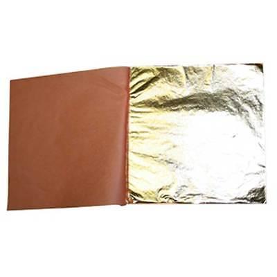 Schlagmetall wie Blattgold 14 x14cm 25 Blatt im Heft