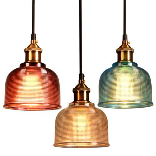 Industrial Glass Pendant Light Color Plating Ceiling Lamp Sh