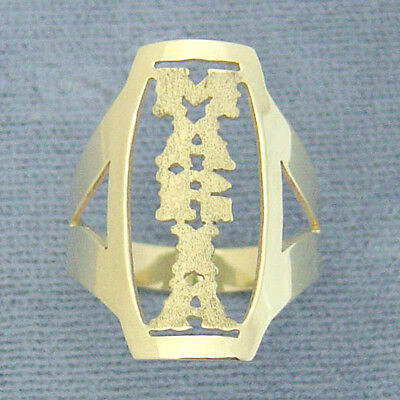 10K Solid Gold Personalized Vertical Name Band Ring Fine Jewelry NR02 10k Personalized Name Ring