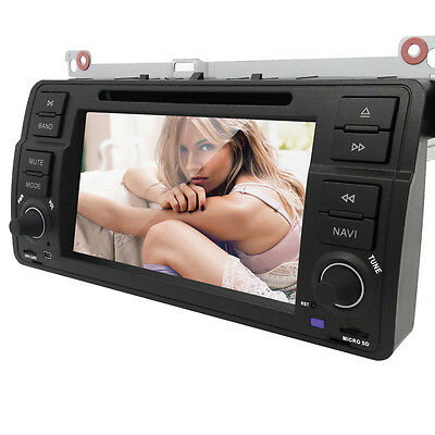"7"" Touch Screen Car DVD Player Stereo GPS BT MP3 CD for BMW 3 Series E46 A"
