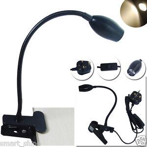 gooseneck led flexible reading light clip on bed table. Black Bedroom Furniture Sets. Home Design Ideas