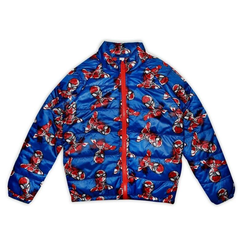 DISNEY Store Spiderman Lightweight Puffy Puffer Jacket 5/6 NEW pockets