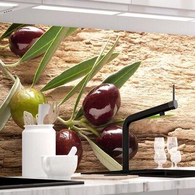 Jede Küche (Küchenrückwand - OLIVEN - 1.5mm Hart-Material, jeder Untergrund ist möglich)