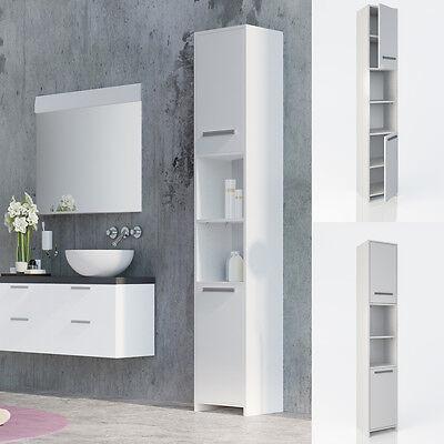 Badezimmer Schrank (VICCO Badschrank KIKO Weiß - Badezimmerschrank Hochschrank Regal Badregal Bad)
