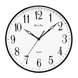 DreamSky 13 1/2 Inch Extra Large Wall clock ,Non - Ticking  Silent Decorative