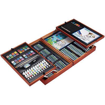 Deluxe Master Artist Case, Art Set - Oil Pencils Pens Markers Paints Crayons