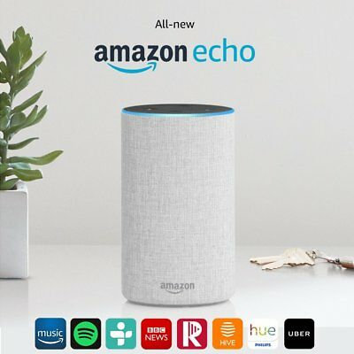 All-new Amazon Echo (2nd Generation) Wireless Alexa Speaker - Sandstone Fabric
